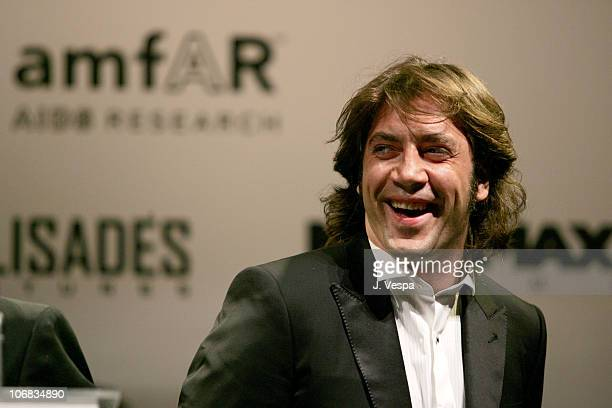 """Javier Bardem during amfAR """"Cinema Against AIDS"""" Gala Presented By Miramax Films, Palisades Pictures and Quintessentially - Auction at Le Moulins de..."""
