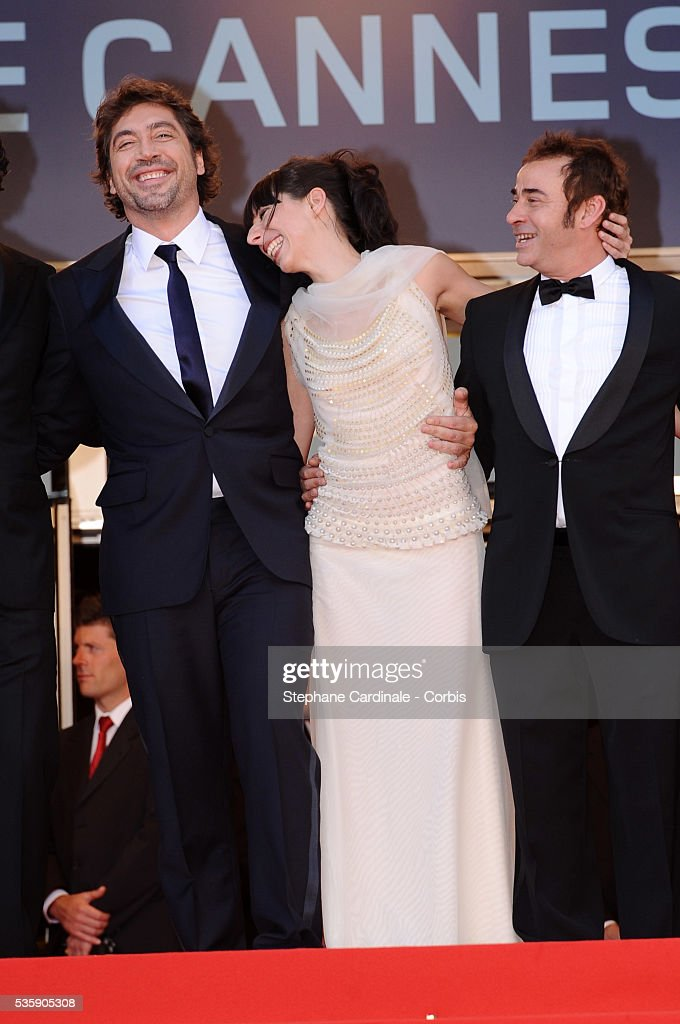 Javier Bardem, Maricel Alvarez and Eduard Fernandez at the Premiere for 'Biutiful' during the 63rd Cannes International Film Festival.