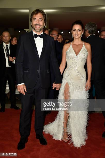 Javier Bardem Penelope Cruz walk the red carpet ahead of the 'Loving Pablo' screening during the 74th Venice Film Festival at Sala Grande on...