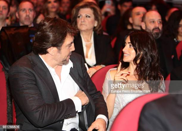 Javier Bardem Penelope Cruz's mother Encarna Sanchez and Penelope Curz attend the Union de Actores Awards ceremony at the Circo Price on March 12...