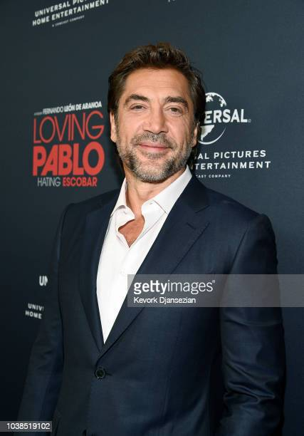 Javier Bardem poses during the Universal Pictures Home Entertainment Content Group's Loving Pablo special screening at The London West Hollywood on...