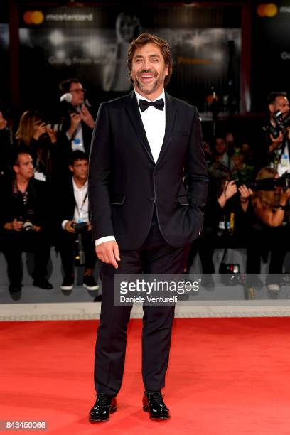 Javier Bardem walks the red carpet ahead of the 'Loving Pablo' screening during the 74th Venice Film Festival at Sala Grande on September 6 2017 in...