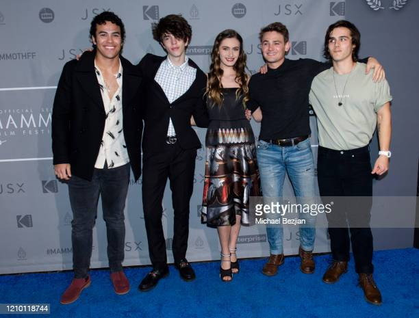Javier Bolanos Seth Lee Nicole Berger Carson Boatman and Charlie Gillespie arrive at 3rd Annual Mammoth Film Festival Red Carpet Monday on March 02...