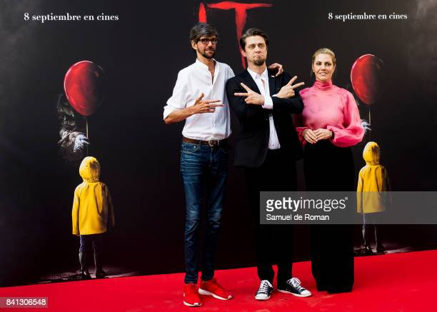 Javier Botet Andy Muschietti and Barbara Muschietti attends the 'IT' premiere at Spanish Cinema Academy on August 31 2017 in Madrid Spain