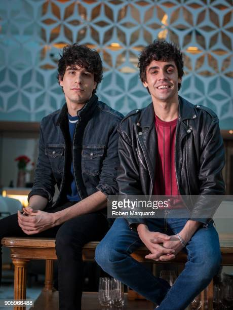 Javier Calvo and Javeir Ambrossi pose for the press during a candidate presentation for the 10th Gaudi Awards 2018 at the Hotel Mandarin Oriental on...
