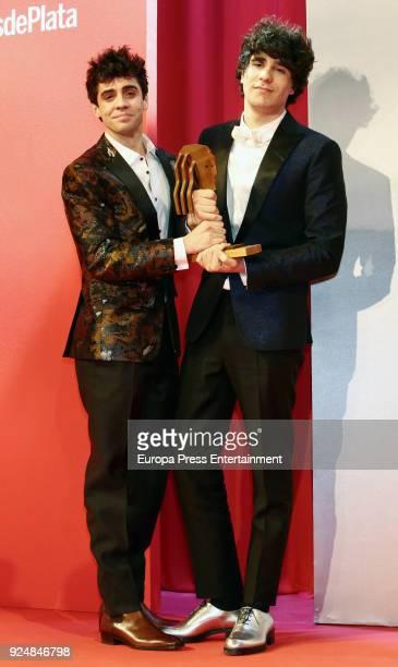 Javier Calvo and Javier Ambrossi attend 'Fotogramas Awards' gala at Joy Eslava on February 26 2018 in Madrid Spain