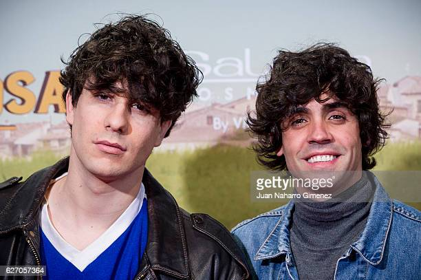 Javier Calvo and Javier Ambrossi attend 'Villaviciosa De Al Lado' premiere at Capitol Cinema on December 1 2016 in Madrid Spain