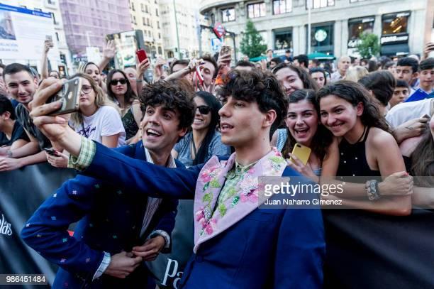 Javier Calvo and Javier Ambrossi attend World Premiere of Netflix's Paquita Salas Season 2 on June 28 2018 in Madrid Spain