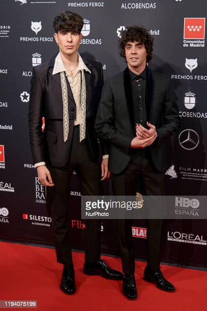 Javier Calvo Javier Ambrosi attends the 'FEROZ' awards 2020 Red Carpet photocall at Teatro Auditorio Ciudad de Alcobendas in Madrid Spain on Jan 16...