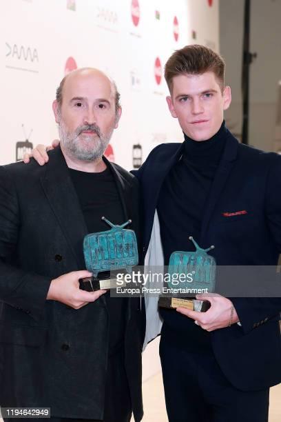 Javier Camara and Miguel Bernardeau attend 'MiM' awards 2019 at Hotel Puerta de America on December 17 2019 in Madrid Spain