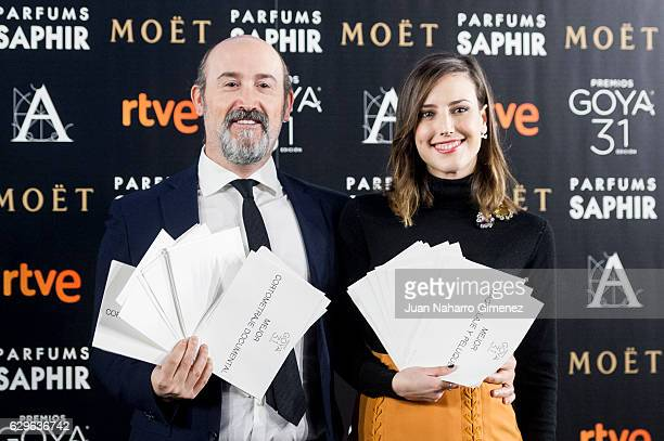 Javier Camara and Natalia de Molina attend Goya candidates lecture at Academia de Cine on December 14 2016 in Madrid Spain