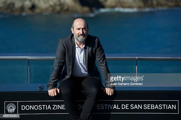 Javier Camara attends 'Truman' photocall during 63rd San Sebastian International Film Festival at Aquarium of San Sebastian on September 19 2015 in...