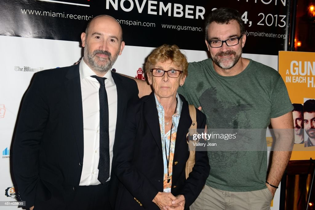 Javier Camara, Guest and Jesus Monllao attend Cinema From Spain Film Festival at Gusman Center for the Performing Arts on November 21, 2013 in Miami, Florida.