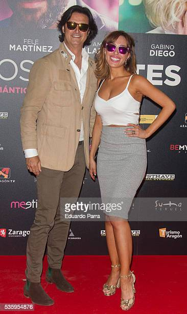 Javier Castillo AKA 'Poty' and actress Grecia Castta attend the 'Nuestros amantes' premiere at Palafox cinema on May 30 2016 in Madrid Spain
