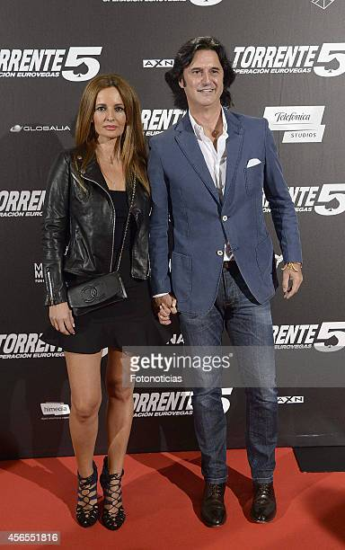 Javier Castillo Poti and guest attend the 'Torrente 5 Operacion Eurovegas' premiere at Kinepolis cinema on October 2 2014 in Madrid Spain