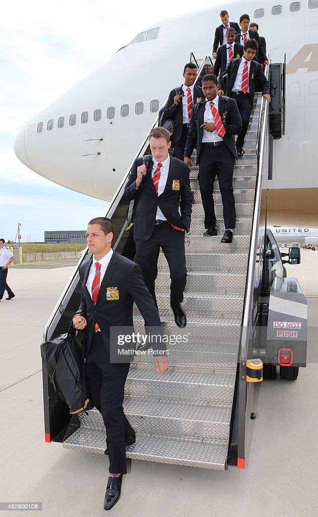 Manchester United FC Arrive in Washington - Pre-Season Tour of The USA : Nieuwsfoto's