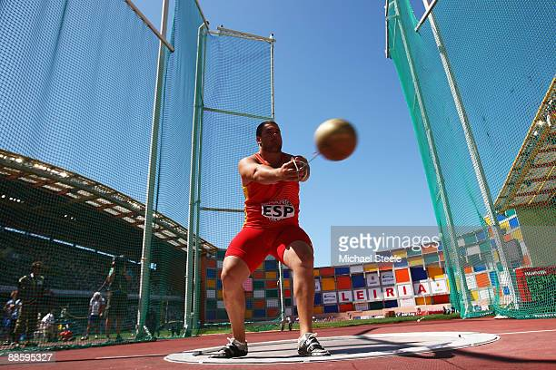 Javier Cienfuegos of Spain on his way to winning the men's hammer during day one of the Spar European Team Championships at the Estadio Municipal...