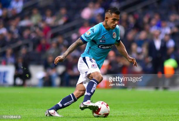 Javier Cortes of San Luis controls the ball during the 9th round match between Monterrey and Atletico San Luis as part of the Torneo Clausura 2020...