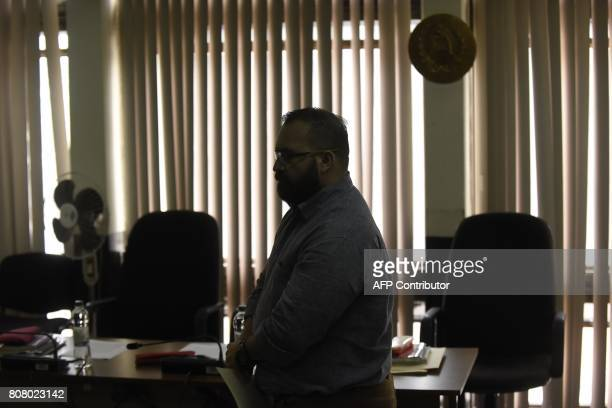 Javier Duarte former governor of the Mexican state of Veracruz accused of graft and involvement in organized crime attends a hearing regarding a new...
