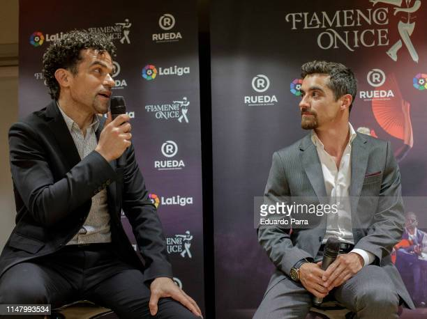 Javier Fernandez and Antonio Najarro present 'Flamenco On Ice' at the Japanese Embassy on May 09 2019 in Madrid Spain