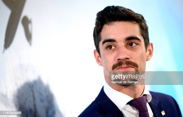 Javier Fernandez attends Revolution on Ice 2019 Tour presentation on March 20 2019 in Madrid Spain