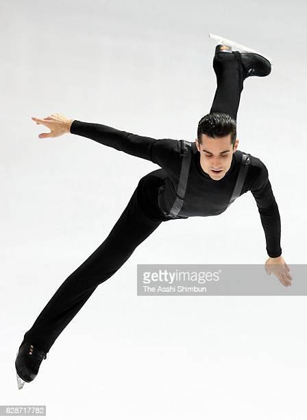 Javier Fernandez of Spain comeptes in the Senior Men's Singles short program during day one of the ISU Junior Senior Grand Prix of Figure Skating...