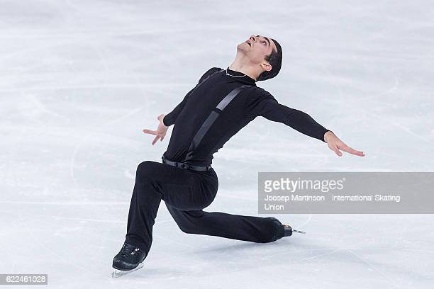 Javier Fernandez of Spain competes during Men's Short Program on day one of the Trophee de France ISU Grand Prix of Figure Skating at Accorhotels...