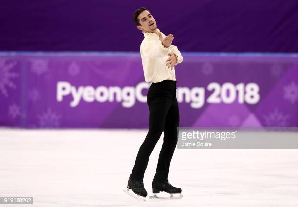 Javier Fernandez of Spain competes during the Men's Single Free Program on day eight of the PyeongChang 2018 Winter Olympic Games at Gangneung Ice...