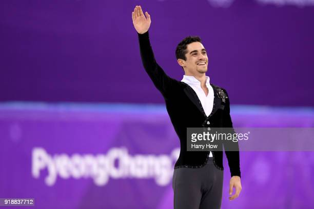 Javier Fernandez of Spain competes during the Men's Single Skating Short Program at Gangneung Ice Arena on February 16 2018 in Gangneung South Korea