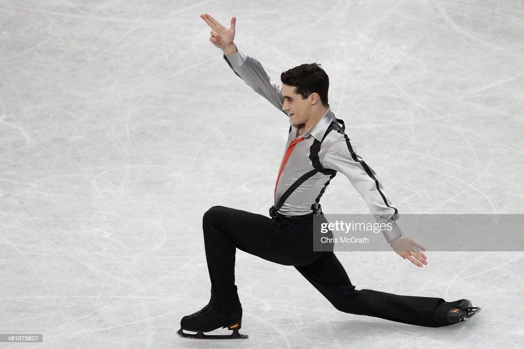 Javier Fernandez of Spain competes in the Men's Free Skating during ISU World Figure Skating Championships at Saitama Super Arena on March 28, 2014 in Saitama, Japan.