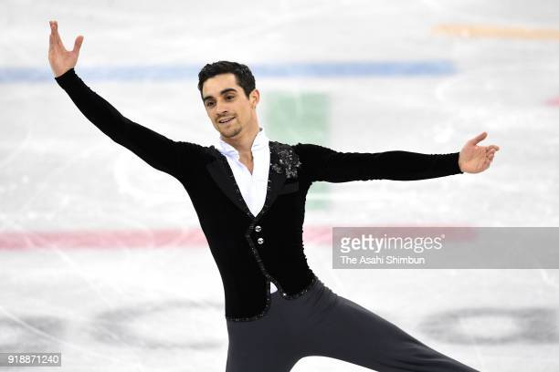 Javier Fernandez of Spain competes in the Men's Single Skating Short Program on day seven of the PyeongChang Winter Olympic Games at Gangneung Ice...