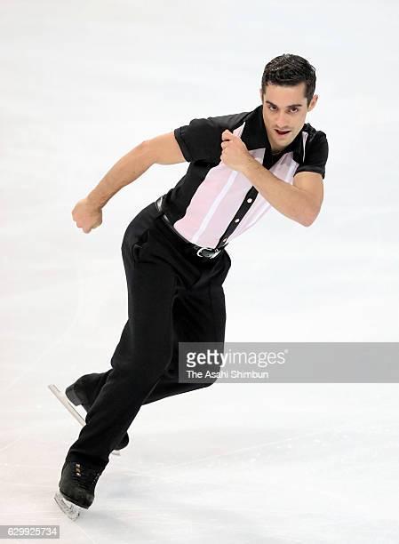 Javier Fernandez of Spain competes in the Senior Men's Singles Free Skating during day three of the ISU Junior Senior Grand Prix of Figure Skating...