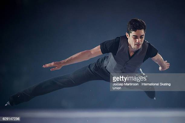 Javier Fernandez of Spain performs during Gala Exhibition on day four of the ISU Junior and Senior Grand Prix of Figure Skating Final at Palais...