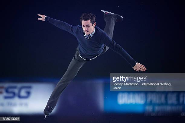 Javier Fernandez of Spain performs during Gala Exhibition on day three of the Trophee de France ISU Grand Prix of Figure Skating at Accorhotels Arena...