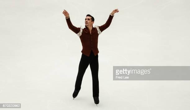 Javier Fernandez of Spain performs during Men's Singles free skating on Day 2 of the ISU Grand Prix of Figure Skating 2017 at Beijing Capital...