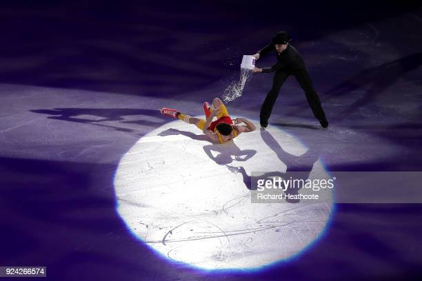 Javier Fernandez of Spain performs during the Figure Skating Gala Exhibition on day 16 of the PyeongChang 2018 Winter Olympics at Gangneung Ice Arena...