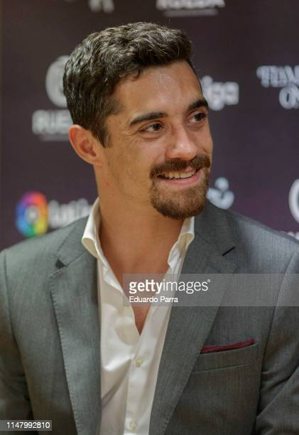 Javier Fernandez presents 'Flamenco On Ice' at the Japanese Embassy on May 09 2019 in Madrid Spain
