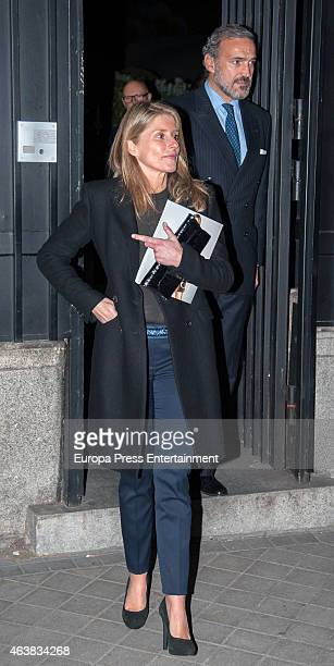 Javier FitzJames Stuart and Maria Chavarri attend Harper's Bazaar party at USA Embassy on February 18 2015 in Madrid Spain