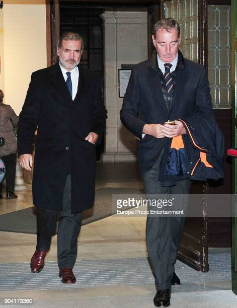 Javier FitzJames Stuart attends the funeral mass for Carmen Franco daughter of the dictator Francisco Franco at the Francisco de Borja church on...