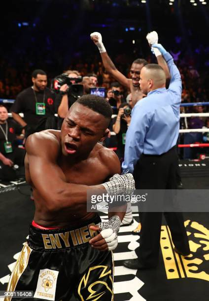 Javier Fortuna reacts after losing a split decision against Robert Easter Jr after their IBF lightweight title bout at the Barclays Center on January...