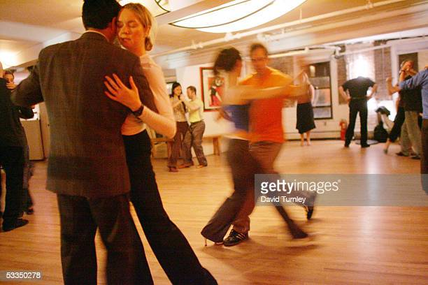 Javier Garcia and Moira Sauvane dance the tango at Triangulo May 24, 2005 in New York City. Javier Garcia, an Argentinian-American and a third-year...