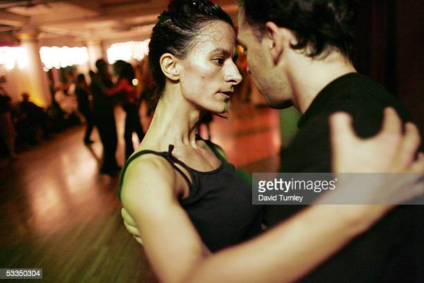 Javier Garcia and Moira Sauvane dance the tango June 1, 2005 in New York City. Javier Garcia, an Argentinian-American and a third-year psychiatric...