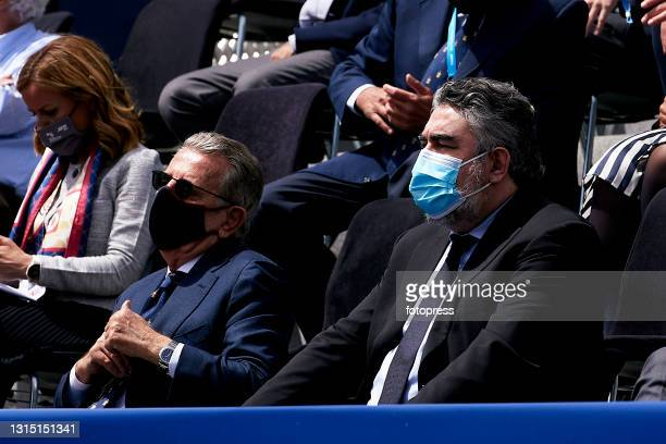 Javier Godo and Jose Manuel Rodroguez Uribes attends to the ATP Barcelona Open Banc Sabadell 2021 at Real Club De Tenis Barcelona on April 25, 2021...