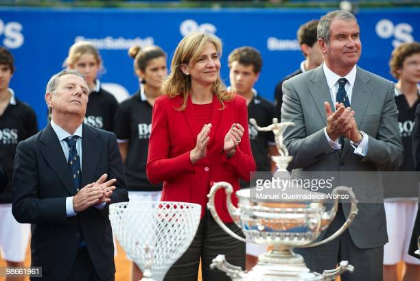 Javier Godo Conde de Godo Princess Cristina of Spain and Albert Agust� attend the ATP 500 World Tour Barcelona Open Banco Sabadell 2010 tennis...