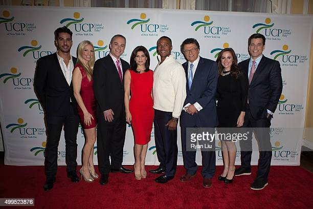 Javier Gomez Liza Huber Scott Stanford Tamsen Fadal Mike Woods Irv Gikofsky Teresa Priolo and Steve Lacy attends the 6th Annual UCP Of NYC Santa...