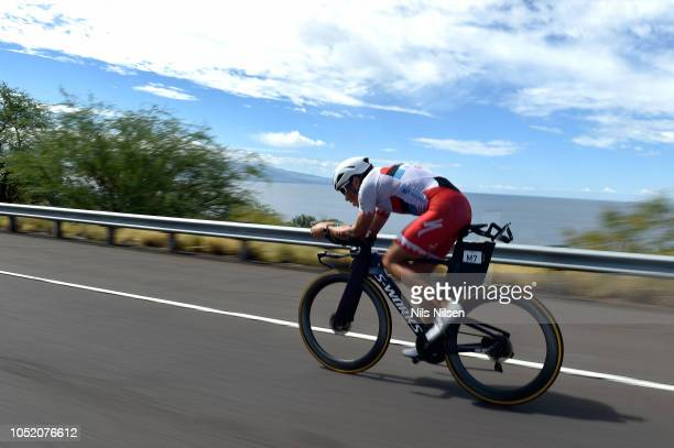 Javier Gomez Noya of Spain competes on the bike during the IRONMAN World Championships brought to you by Amazon on October 13, 2018 in Kailua Kona,...