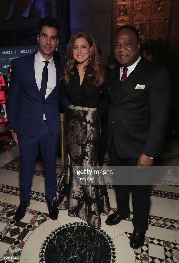 Javier Gomez; Sheila Lennon, and Isiah Whitlock Jr. attend the Adapt Leadership Awards Gala 2018 at Cipriani 42nd Street on March 8, 2018 in New York City.
