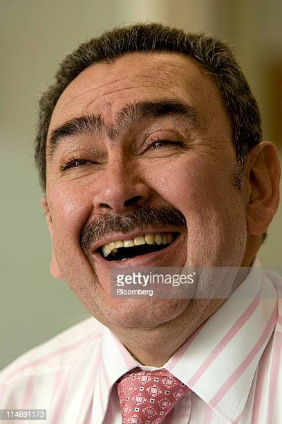Javier Gutierrez chief executive officer of Ecopetrol SA laughs during an interview in Bogota Colombia on Wednesday May 25 2011 Colombia's crude...