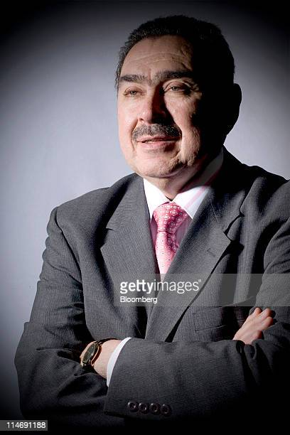 Javier Gutierrez chief executive officer of Ecopetrol SA stands for a photograph following an interview in Bogota Colombia on Wednesday May 25 2011...
