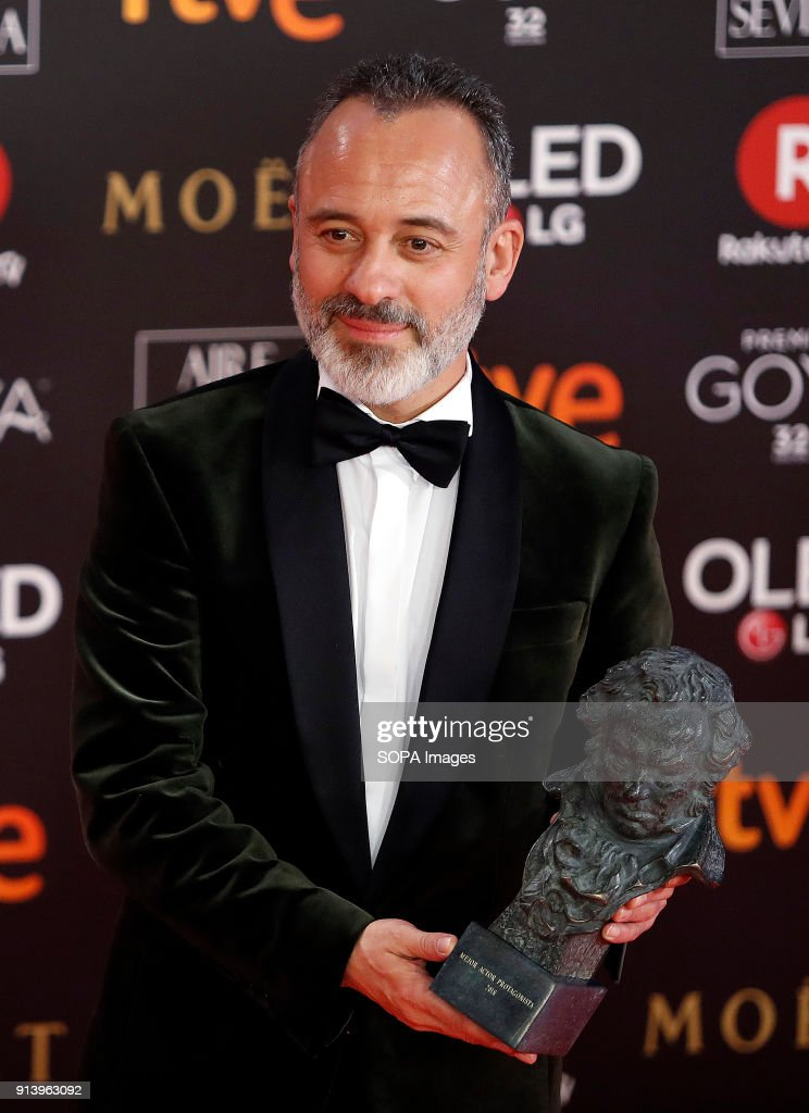 Javier Gutierrez Holds The Award For The Best Actor In A Leading Role Award For The